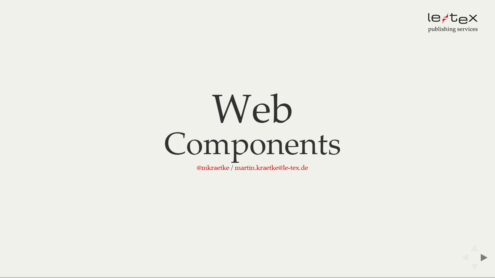 Web Components Slides
