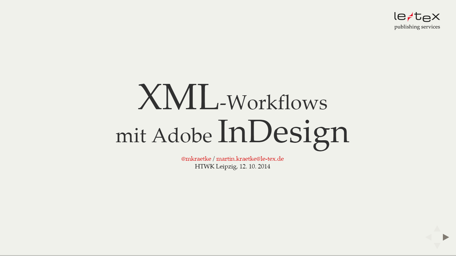 2014-12-10 InDesign-XML-Workflows