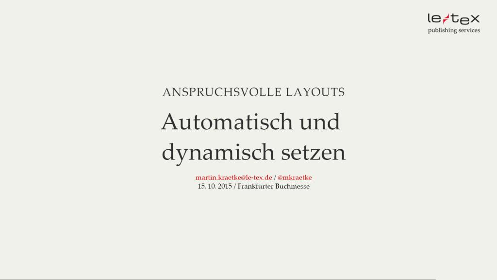 Automatischer Satz Vortrag