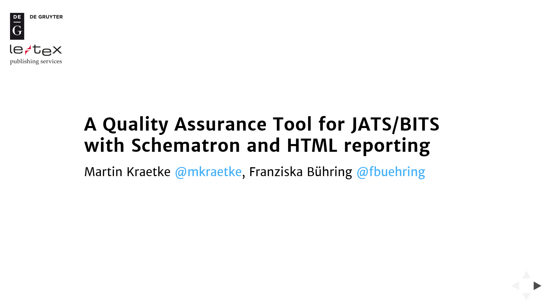 A Quality Assurance Tool for JATS/BITS with Schematron and HTML reporting
